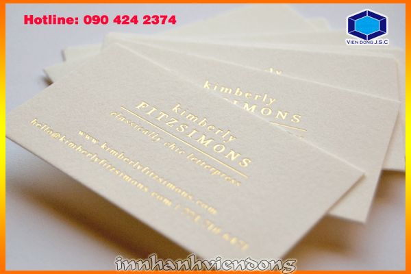 Print foil business card in hanoi